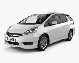 3D model of Honda Fit (Jazz) Shuttle 2012