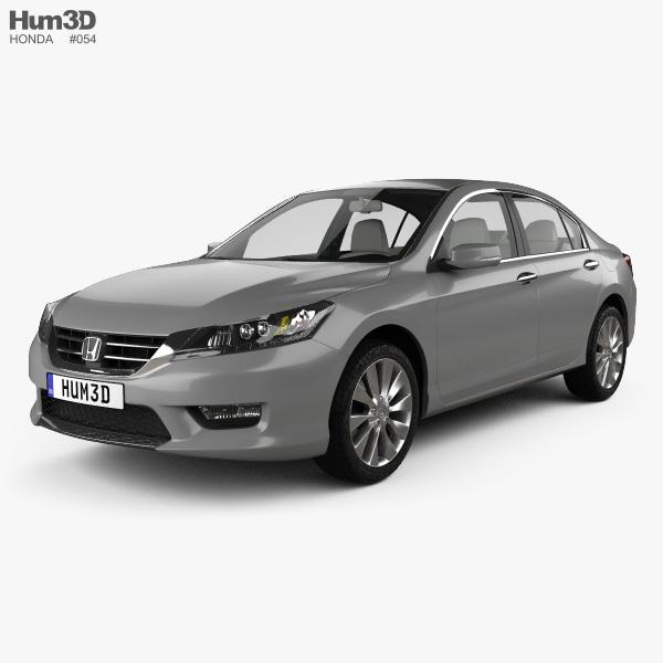 Honda Accord (Inspire) with HQ interior 2013 3D model