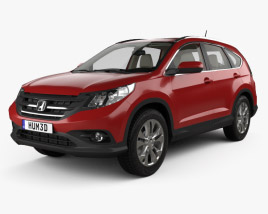 3D model of Honda CR-V EU with HQ interior 2012