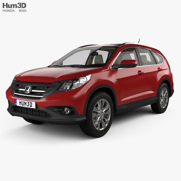Honda CR-V EU with HQ interior 2012 3D model