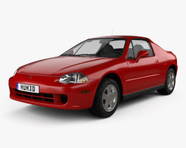3D model of Honda Civic del Sol 1993