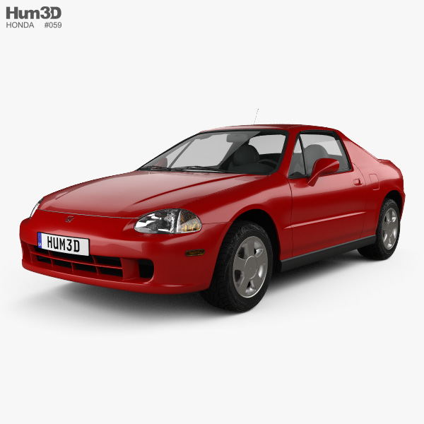 Honda Civic del Sol 1993 3D model