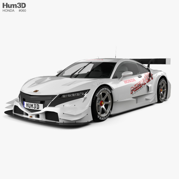 3D model of Honda NSX GT 2013