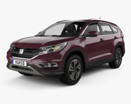 3D model of Honda CR-V 2015