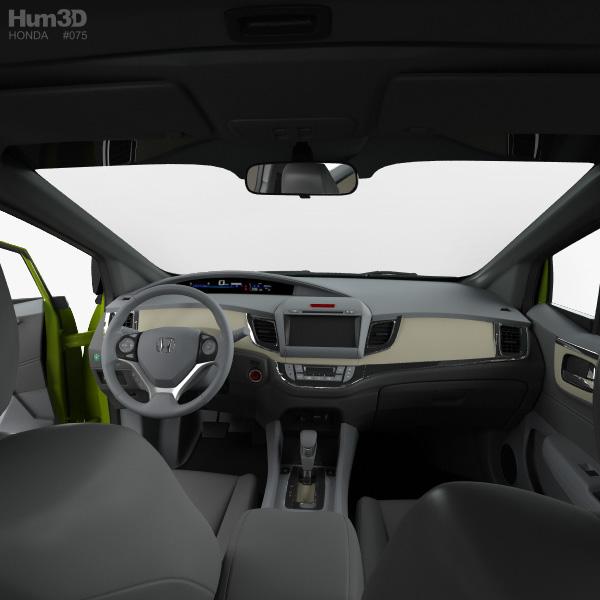 Honda Jade with HQ interior 2014 3D model - Vehicles on Hum3D