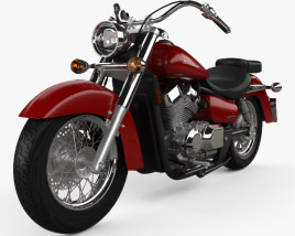 3D model of Honda Shadow Aero 750 2013