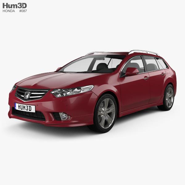 Honda Accord (CW) tourer Type S 2011 3D model