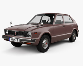 3D model of Honda Civic 4-door 1976