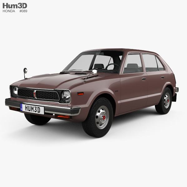 Honda Civic 4-door 1976 3D model
