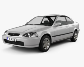 3D model of Honda Civic coupe 1996