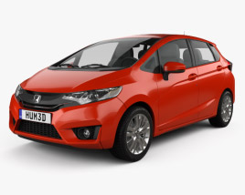 3D model of Honda Fit US-spec 2014