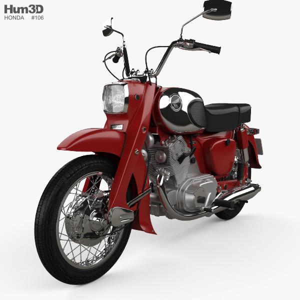 Honda CA72 Dream 1962 3D model