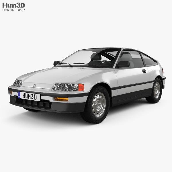 Honda Civic CRX 1988 3D model