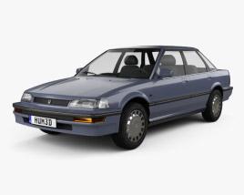 3D model of Honda Concerto (MA) sedan 1988