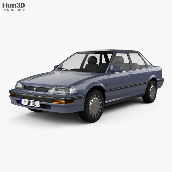 Honda Concerto (MA) sedan 1988 3D model