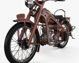 3D model of Honda Dream Type D 1951
