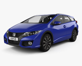 Honda Civic tourer 2015 3D model