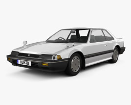 3D model of Honda Prelude 1983
