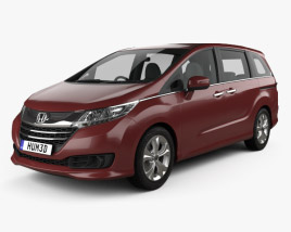 3D model of Honda Odyssey G (JP) 2014