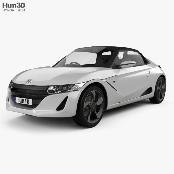 Honda S660 2015 3D model