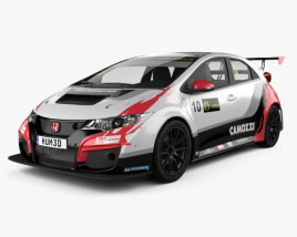 3D model of Honda Civic Type-R TCR 2015