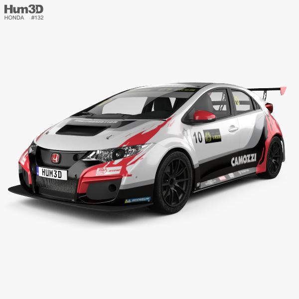 Honda Civic Type-R TCR 2015 3D model