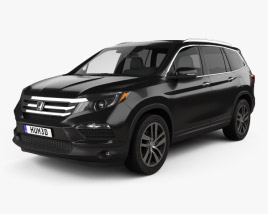 3D model of Honda Pilot Elite 2016