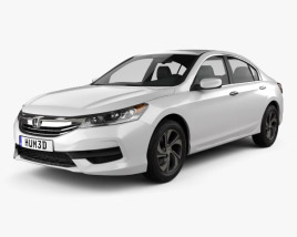 3D model of Honda Accord LX 2016