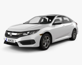 3D model of Honda Civic LX 2016