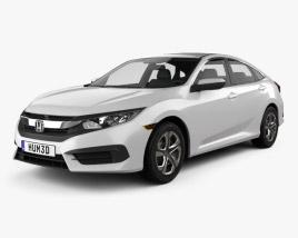 Honda Civic LX 2016 3D model
