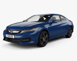 3D model of Honda Accord Сoupe Touring 2016