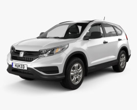 3D model of Honda CR-V LX 2015