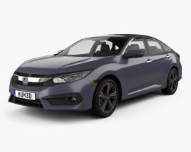 3D model of Honda Civic sedan Touring 2016