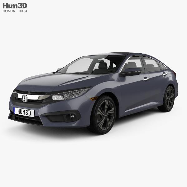 Honda Civic sedan Touring 2016 3D model