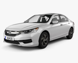 3D model of Honda Accord LX with HQ interior 2016