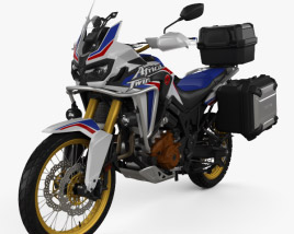 3D model of Honda CRF1000L Africa Twin 2016
