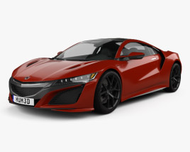 3D model of Honda NSX 2016
