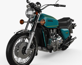 3D model of Honda GL1000 Gold Wing 1974
