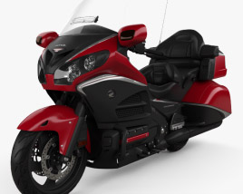 3D model of Honda GL1800 Gold Wing 2015