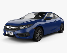 3D model of Honda Civic coupe 2016