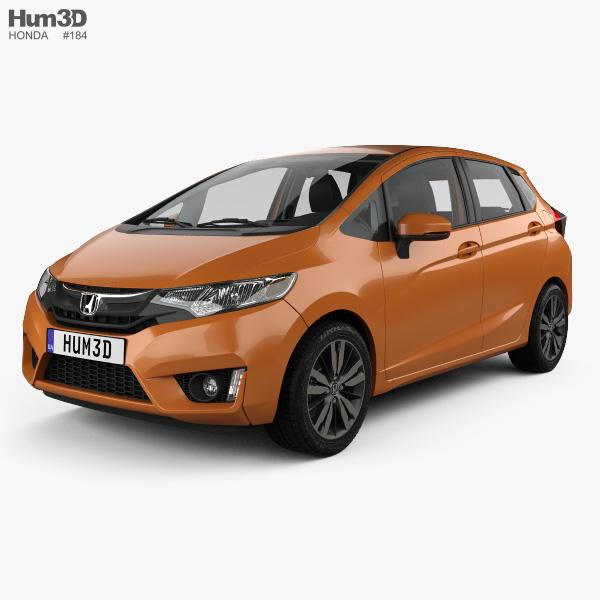Honda Jazz with HQ interior 2016 3D model
