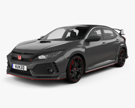 3D model of Honda Civic Type R Prototype 5-door hatchback 2016