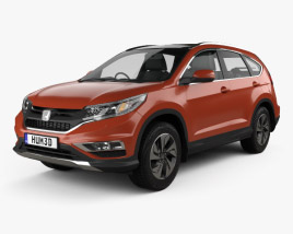 3D model of Honda CR-V (RM) UK-spec 2017