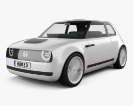 3D model of Honda Urban EV 2017