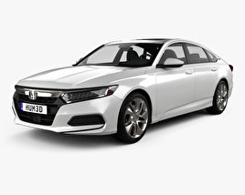 3D model of Honda Accord LX US-spec sedan 2018