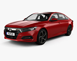 3D model of Honda Accord Sport US-spec sedan 2018