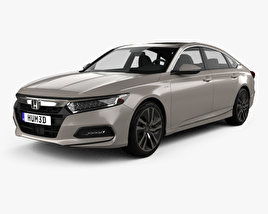 3D model of Honda Accord Touring Hybrid US-spec sedan 2018