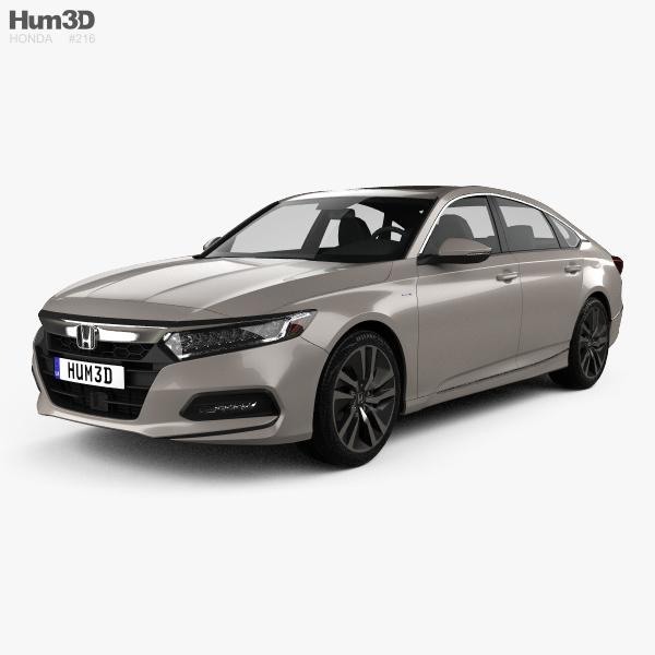 Honda Accord Touring Hybrid US-spec sedan 2018 3D model