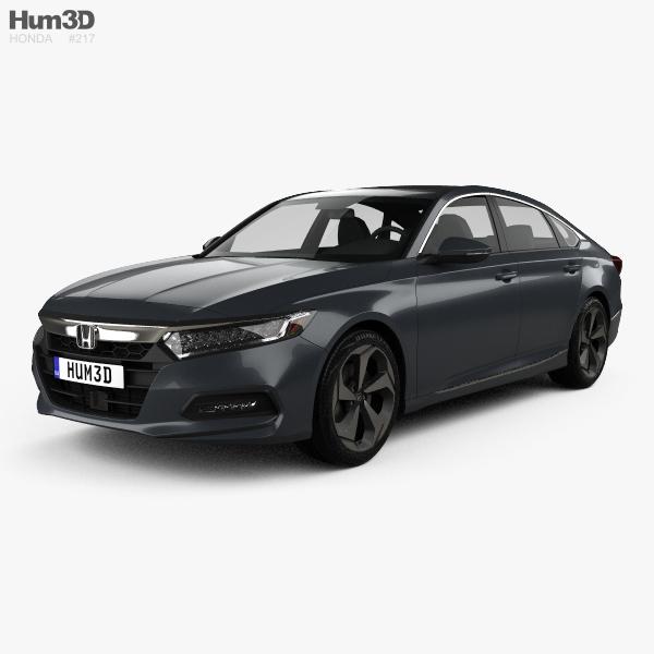 Honda Accord Touring US-spec sedan 2018 3D model