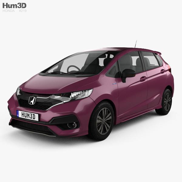 Honda Fit Hybrid S JP-spec 2017 3D model